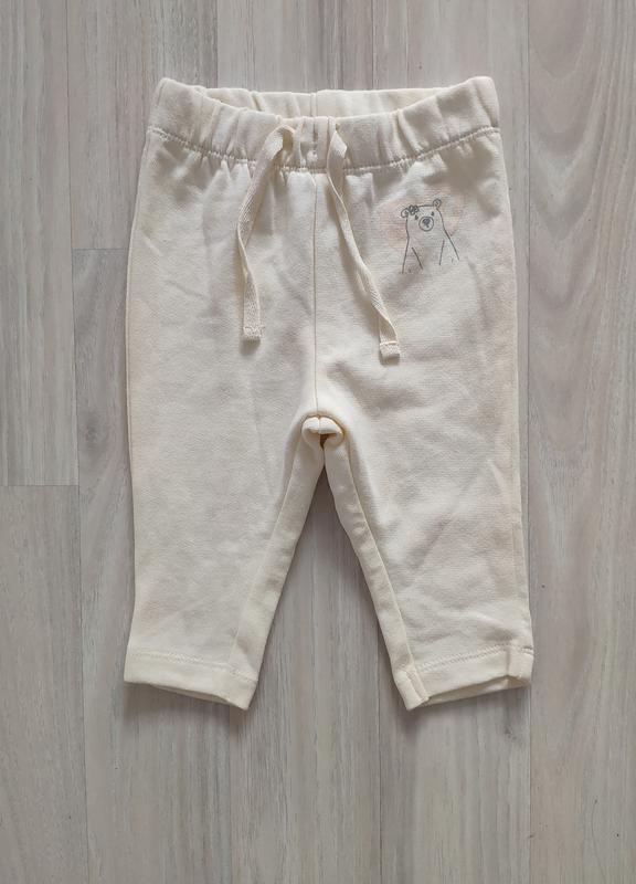 Тёплые штанишки теплі штанці 2 4 місяці