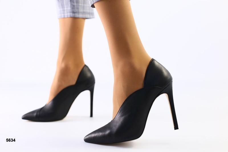 Lux обувь! кожаные натуральные идеальные туфли на шпильке лодо...