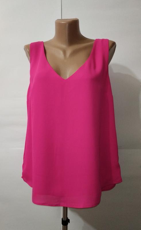 Майка блуза новая розовая симпатичная oasis uk 14/42/l