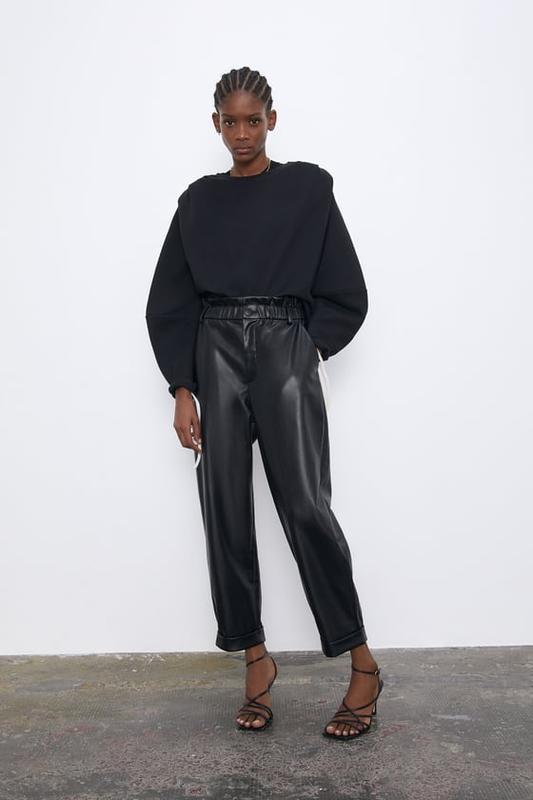 Кожаные брюки от zara