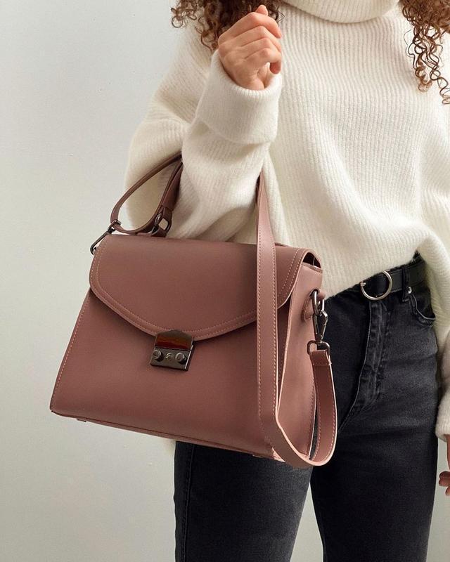 5 цветов! пудровая сумка деловой клатч сумочка розовая