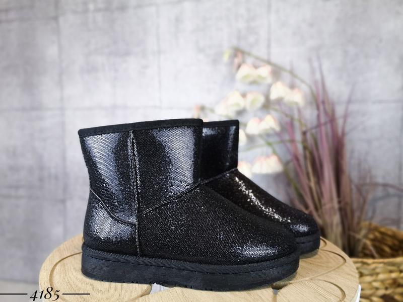❤ женские черные зимние угги ботинки сапоги полусапожки ботиль...