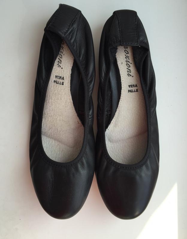 Кожаные балетки emozioni 38 размер туфли италия натуральная кожа