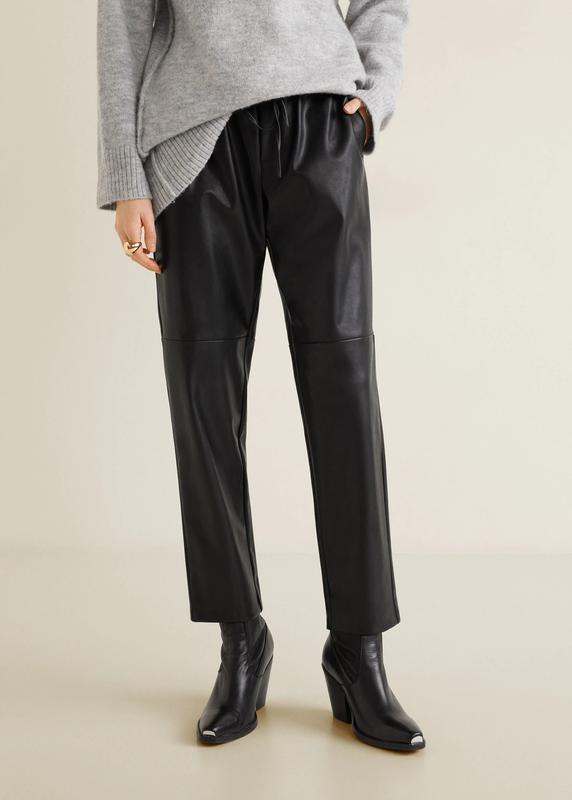 Кожаные брюки от mango