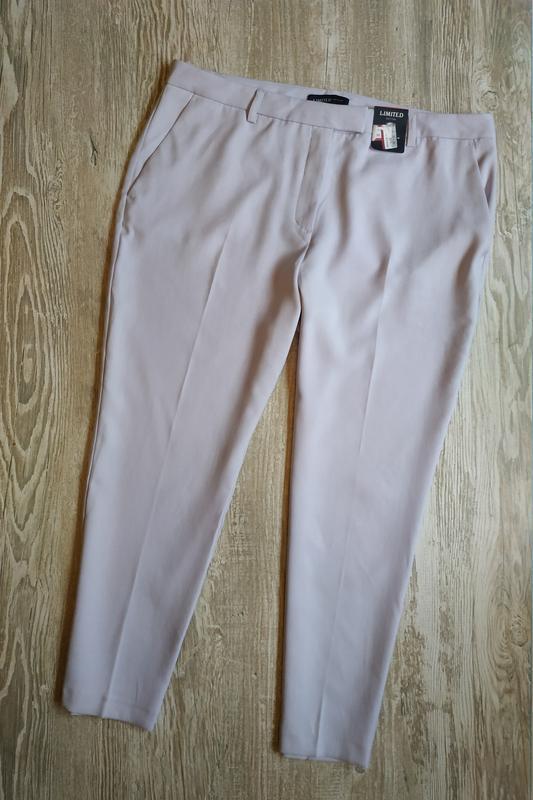 Зауженные брюки лавандового цвета m&s размер 18