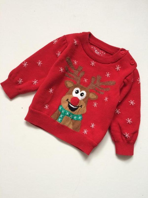 Новогодний свитер на малыша