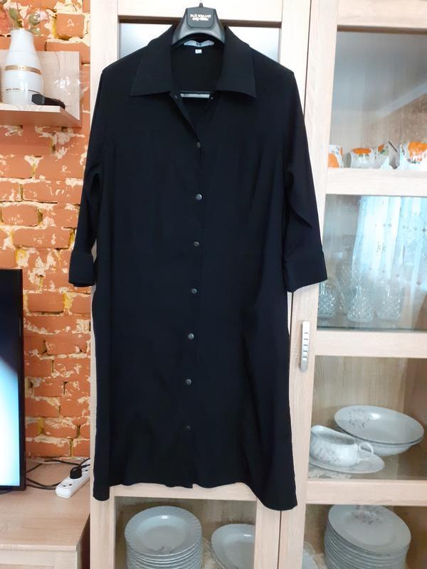 Необыкновенно стройнящее платье рубашка большого размера
