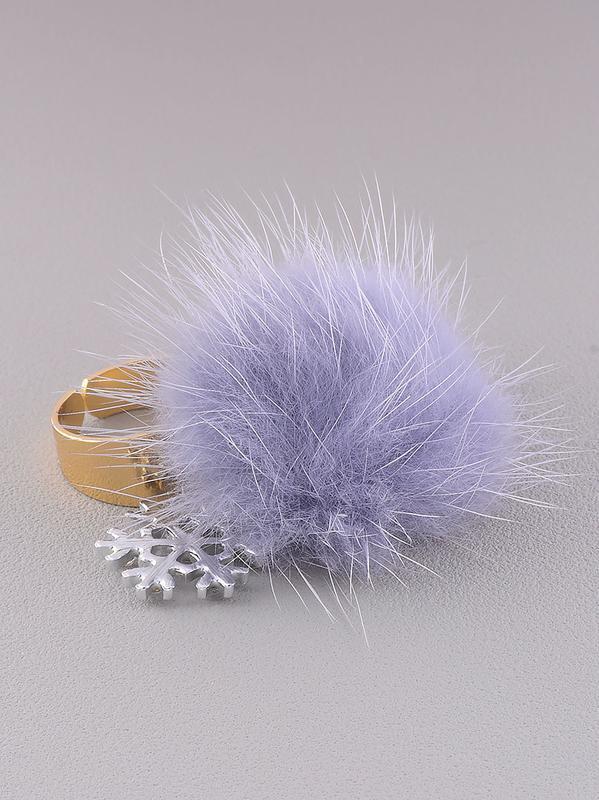 Кольцо 'fashion' мех натуральный