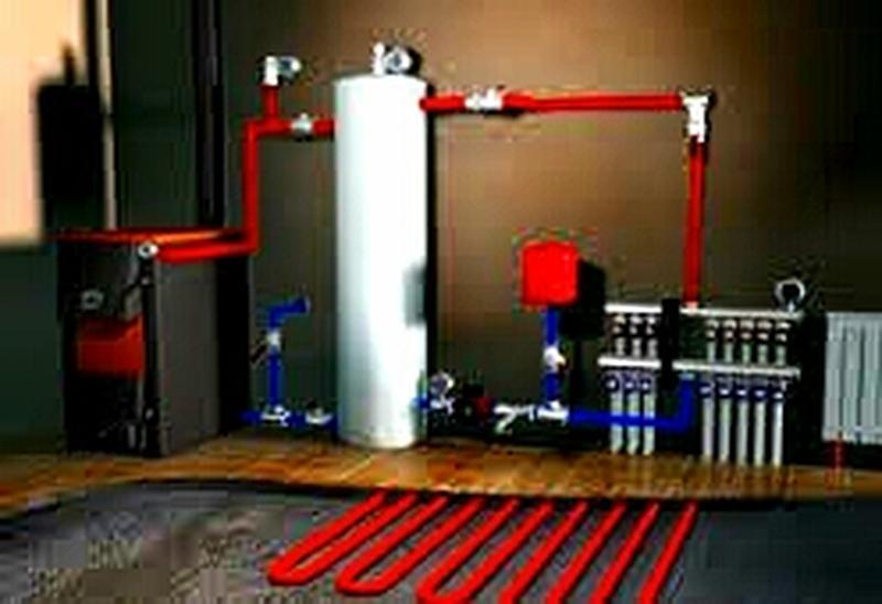 Монтаж системы отопления.  Система тёплый пол.