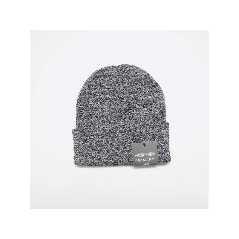 Primark / новая серая шапка с отворотом