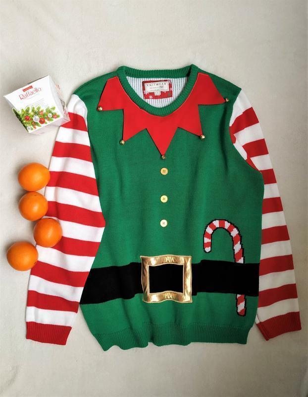 Мужской новогодний свитер с бубенцами от f&f (104), размер xl