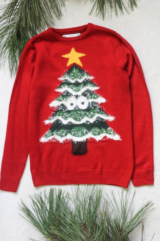 Мужской новогодний свитер с елочкой ,(94), размер xl