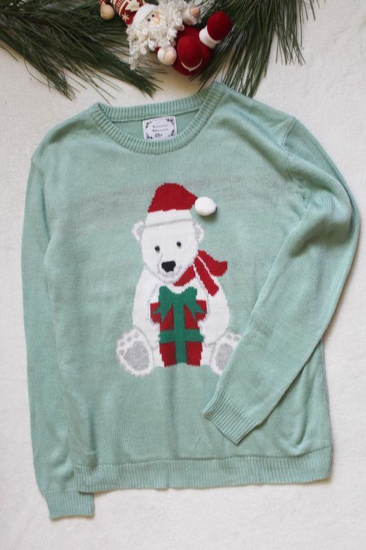 Мужской новогодний свитер с мишкой (76), размер м