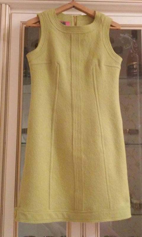 Шерстяное тёплое платье- сарафан на подкладке