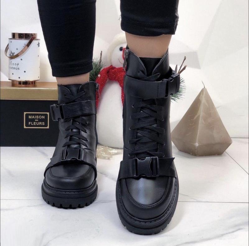 Хит 2020♥️ женские кожаные зимние ботинки