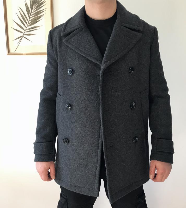 Шерстяное пальто мужское h&m размер medium