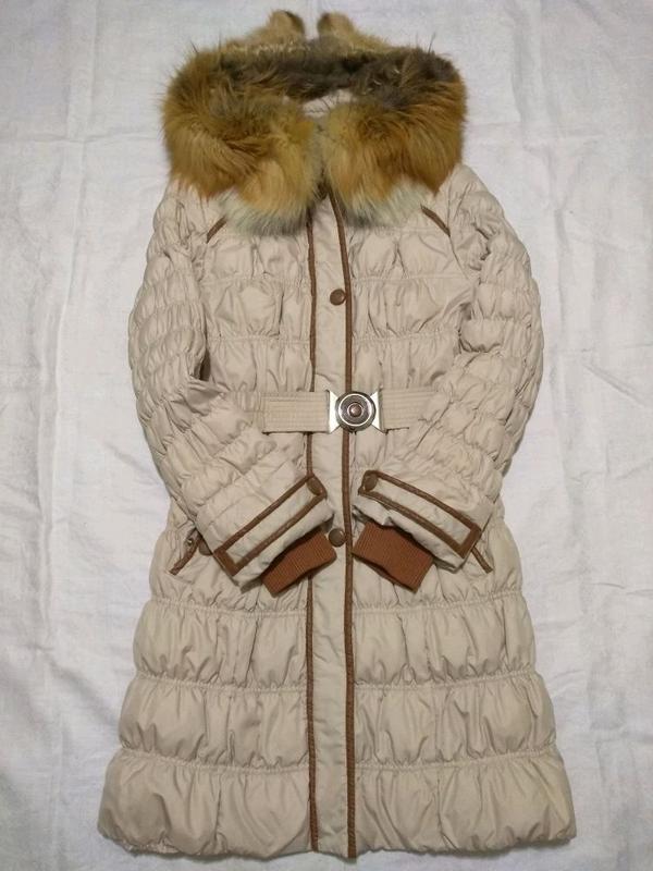Пуховик. Пальто зимнее. Натуральный мех - Фото 6