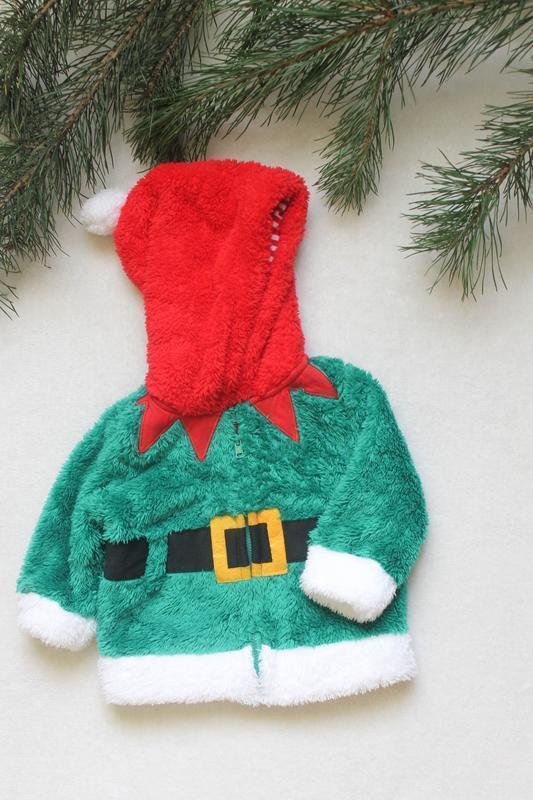 Детский новогодний свитер рваная махра от f&f (93), размер 3-6...