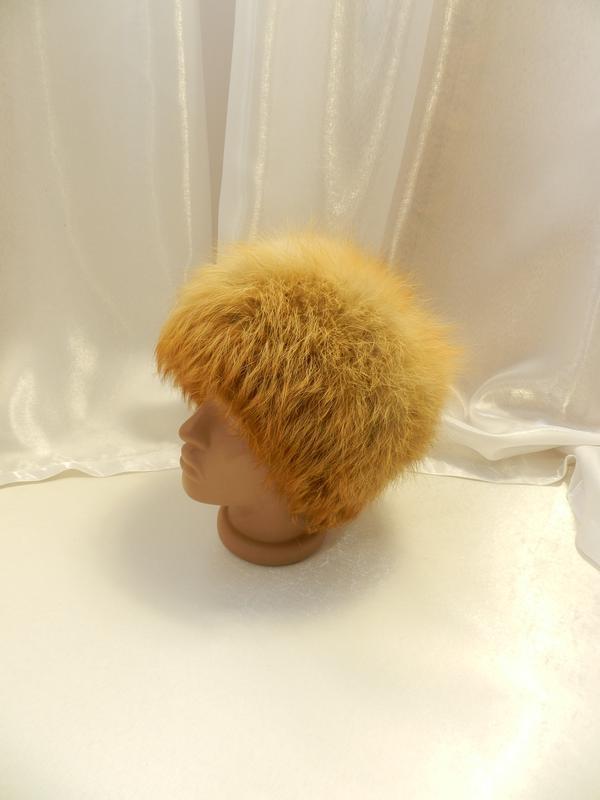 ✅ пушистая шапка натуральный мех лиса