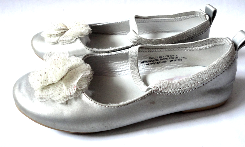Серебристые туфли р.29 стелька 19см