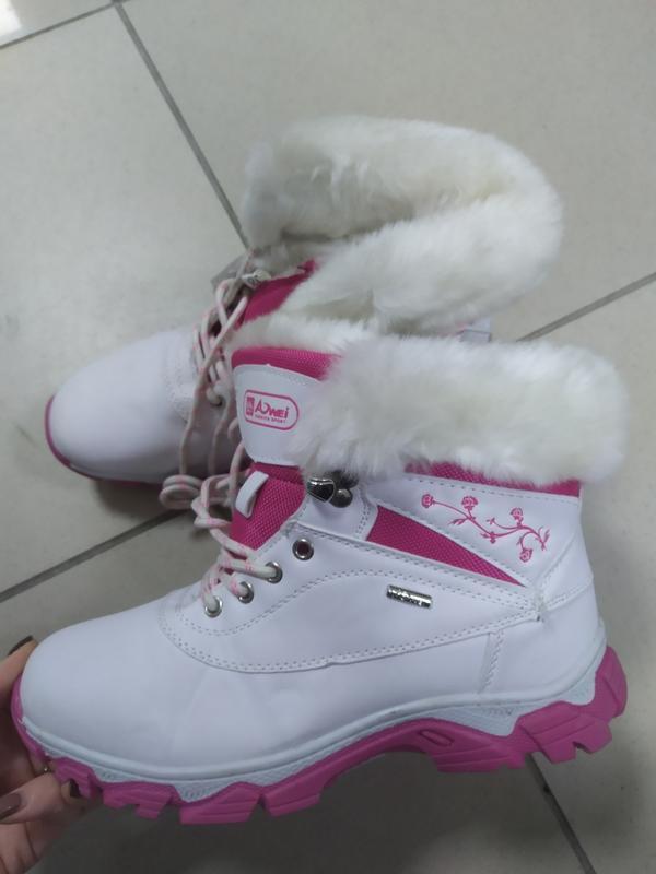 Зимние женские спорт ботинки