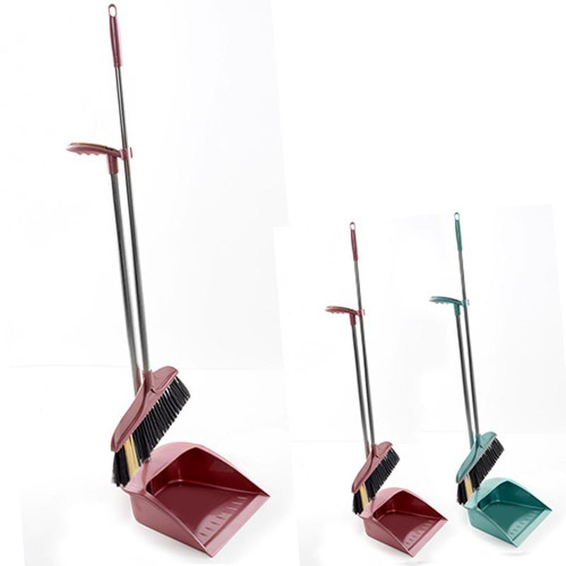 Набор для уборки - метла, совок (R87936)