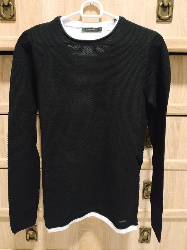 Фактурная кофта 2в1, свитер - италия sorbino - 2 цвета