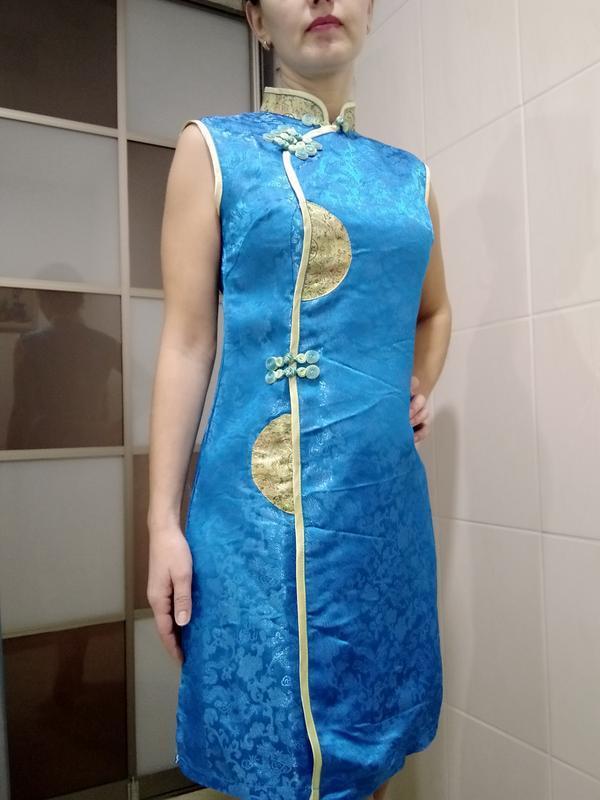 Платье карнавальное национальное китайское ципао с-м
