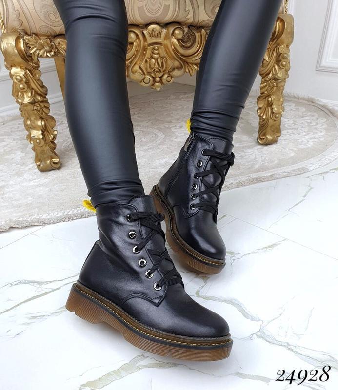 Зимние ботинки,кожа100%