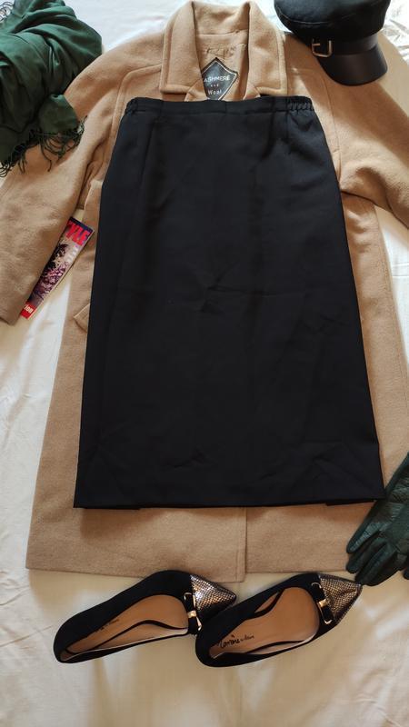 Юбка черная классическая прямая большая батал офисная деловая