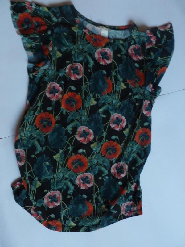 Очень красивая блуза для беременных трикотаж цветы яркая