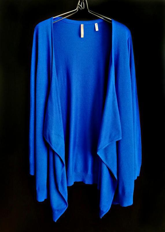 Распродажа! уютный каскадный кардиган роскошного синего цвета ...