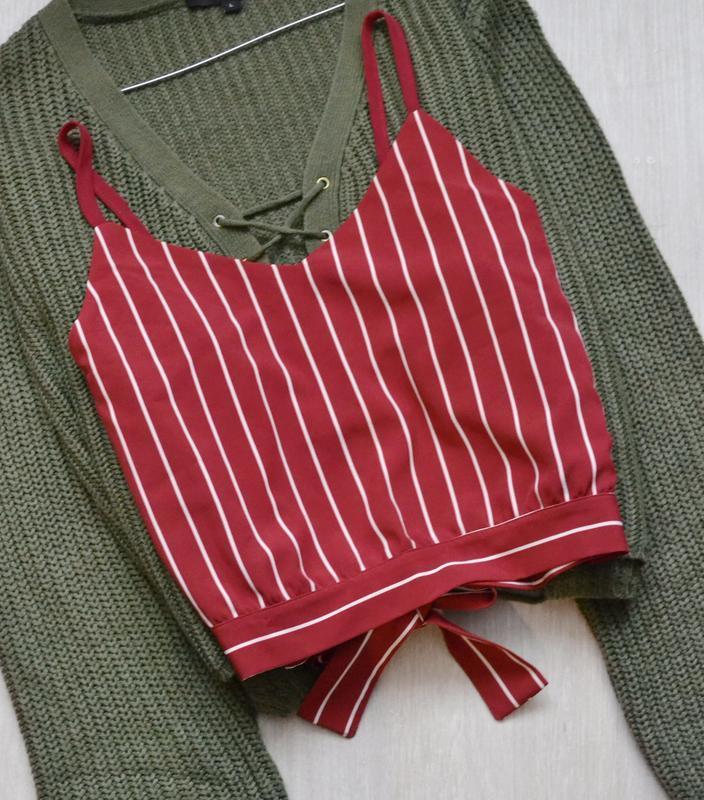 Блузка топ в полоску с завязкой