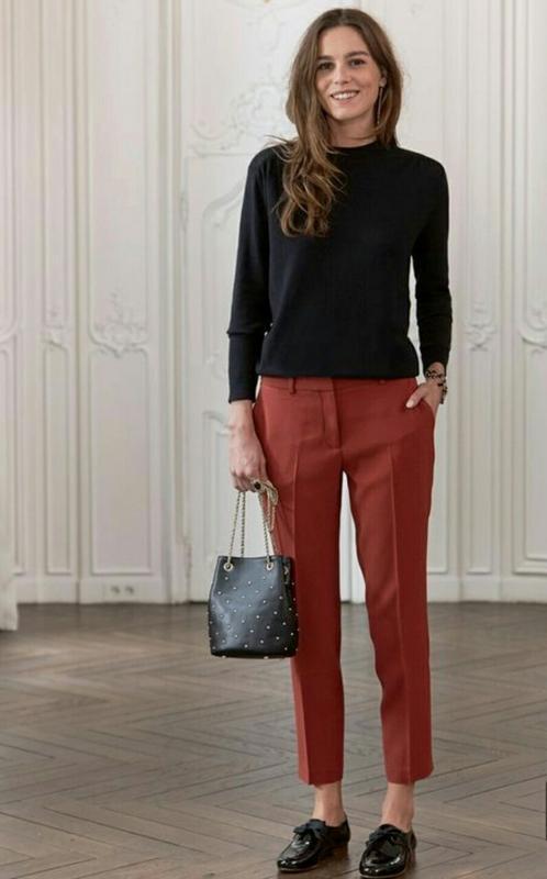 Супер стильные укороченные брюки терракотового цвета ❗новогодн...
