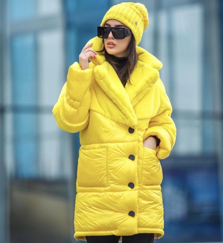 Куртка зимняя комбинированная с эко-мехом