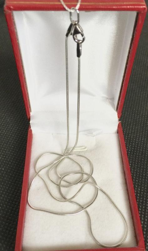 Срібний родірований ланцюжок 925 проби