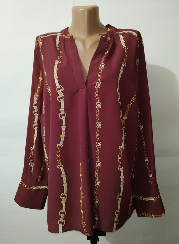 Блуза стильная модная цвета марсала в стиле gucci большой разм...