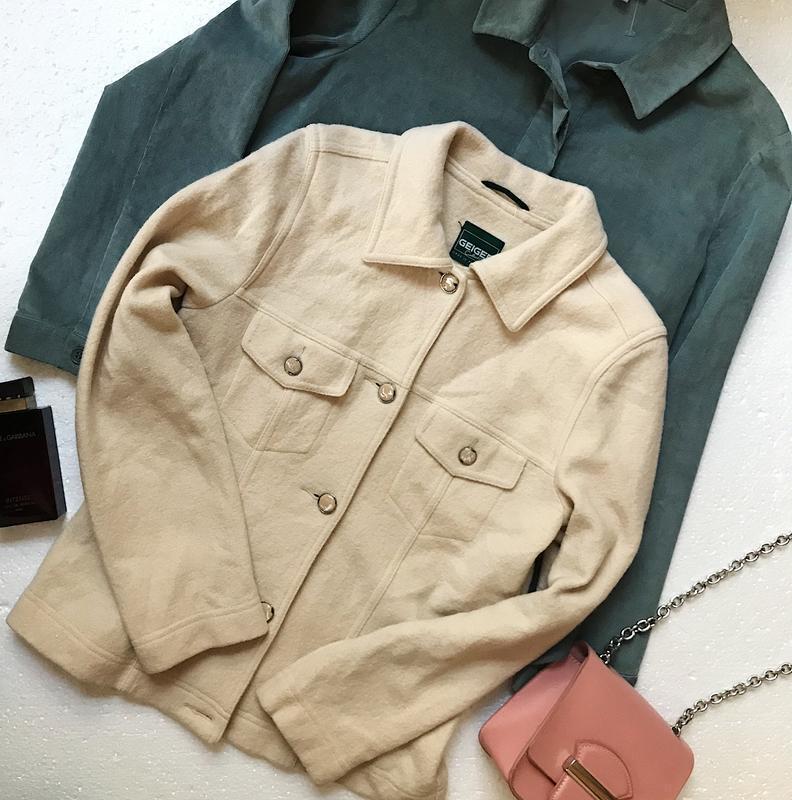 Шикарная тёплая шерстяная рубашка жакет 100% шерсть