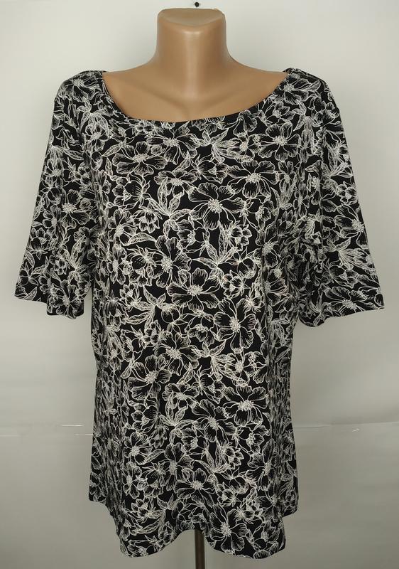 Кофточка блуза красивая новая хлопковая большой размер uk 20/4...