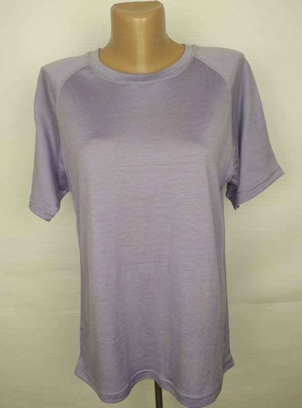 Блуза футболка сиреневая 100% мериносов шерсть! uk 16-18
