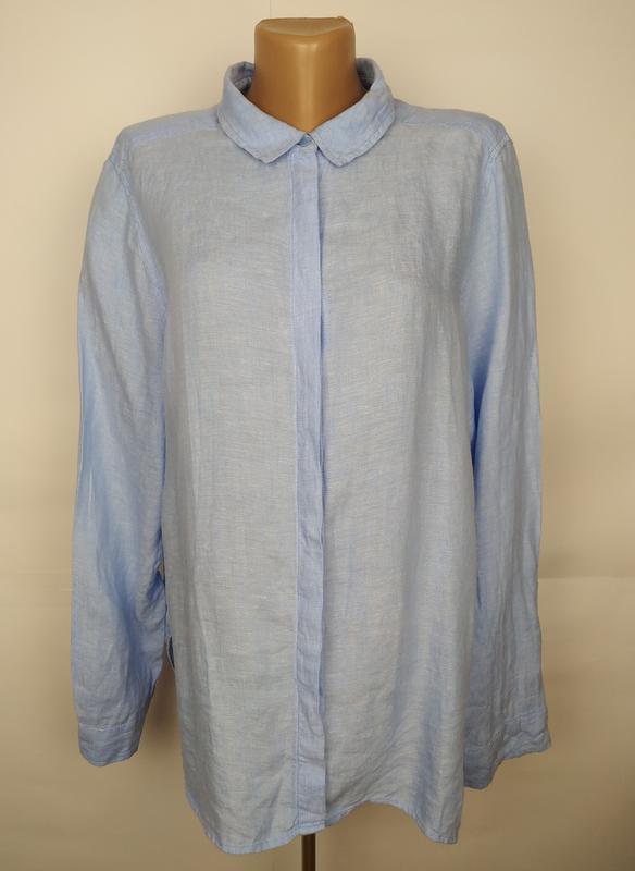 Блуза рубашка рубаха льняная красивая натуральная marks&spence...