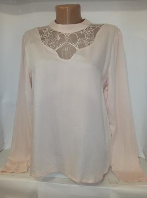 Блуза шикарная розовая натуральная нежная vila clother uk 14/42/l