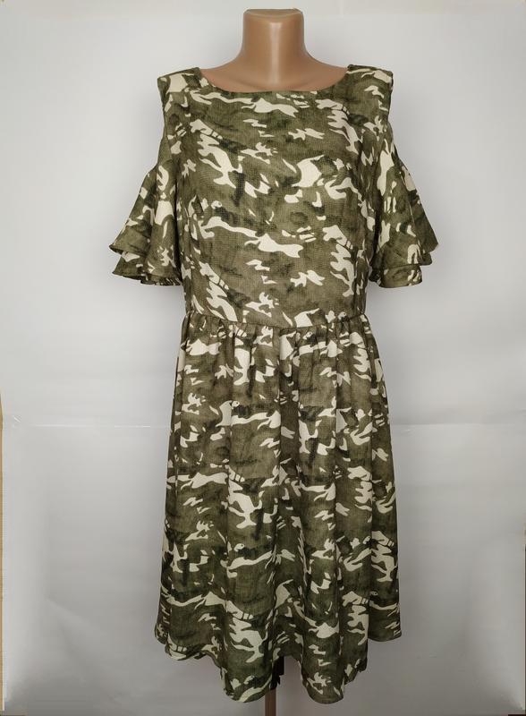 Платье стильное в стиле милитари uk 16/44/xl