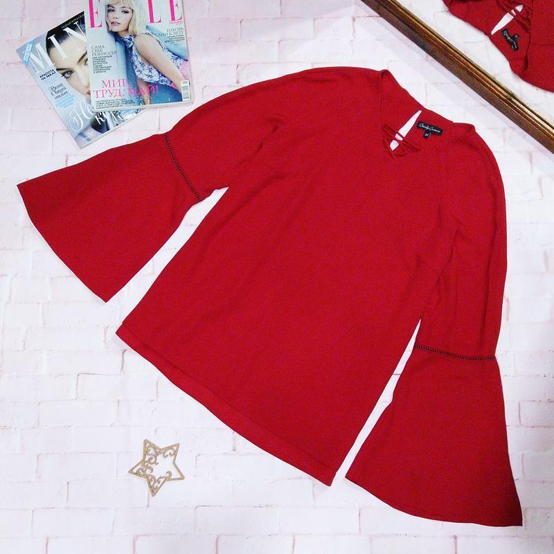 Блуза кофточка с объемными рукавами