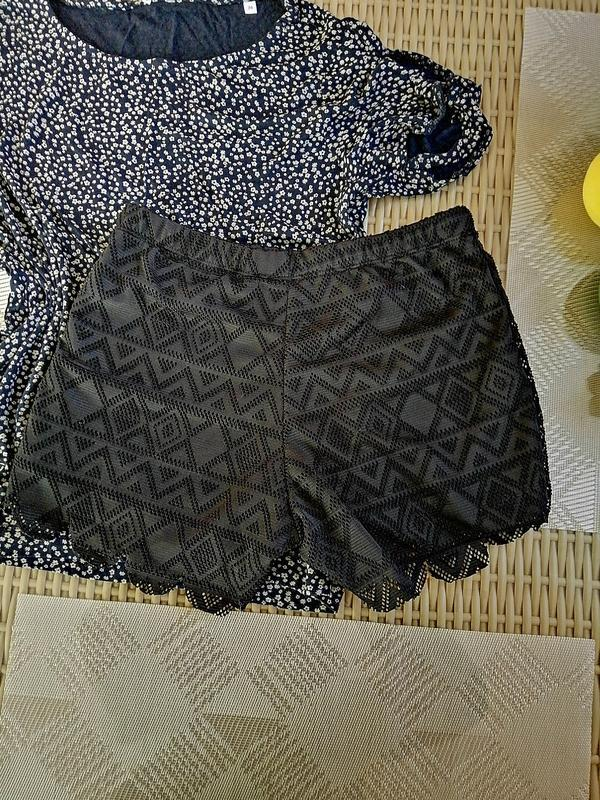 Ажурные sexy короткие шорты черные xs-s