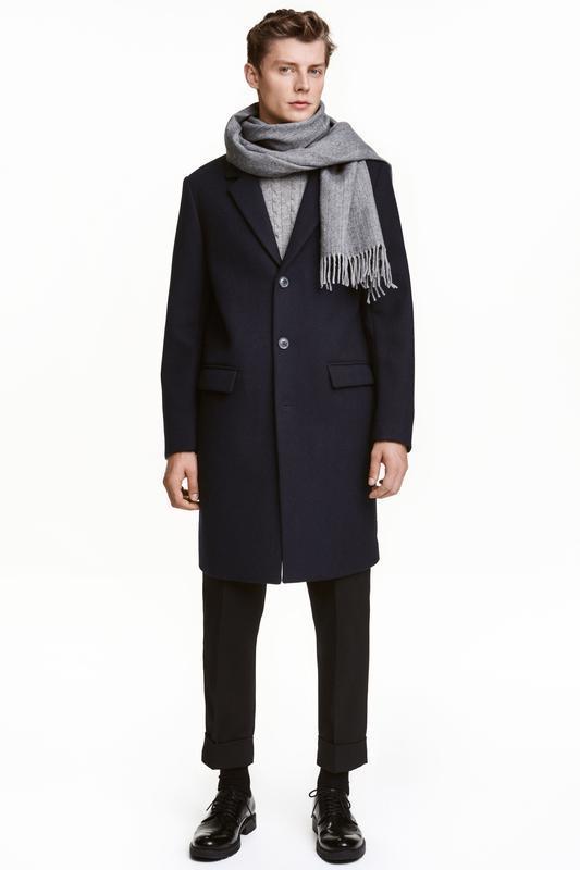 Пальто шерстяное h&m размер 46, 48