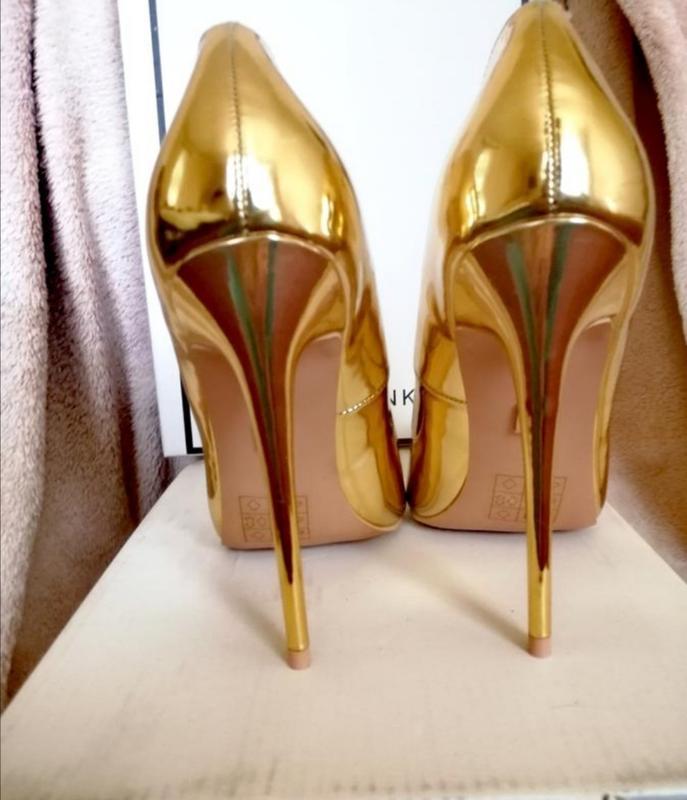 Нарядные вечерние золотые туфли лодочки lost ink праздничные
