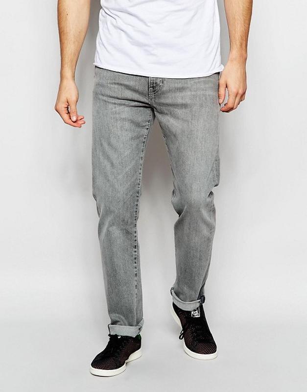 Levi's,оригинал! серые мужские коттоновые легкие джинсы