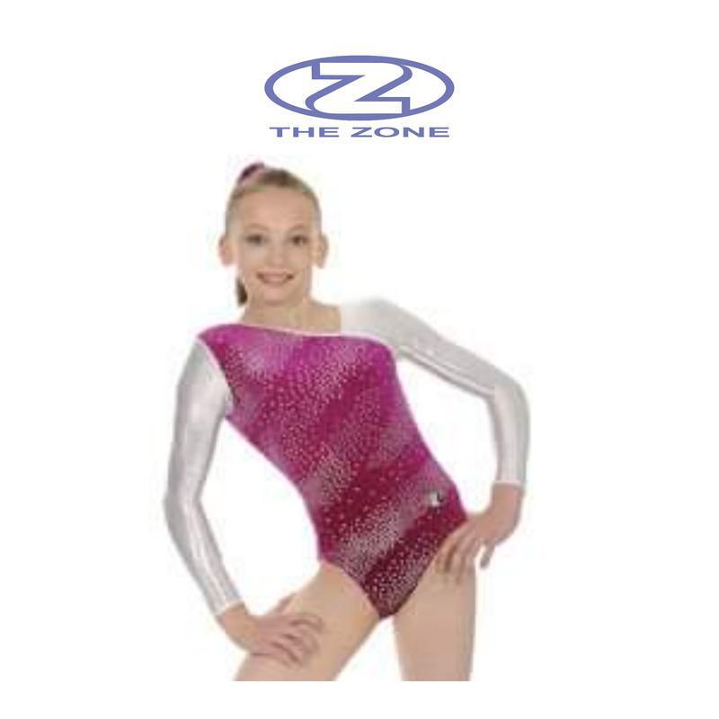 Купальник гимнастический zhe zone, трико, спортивный