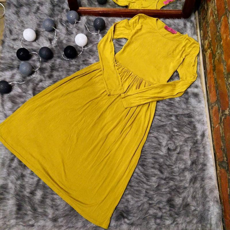 Платье горчичного оттенка boohoo